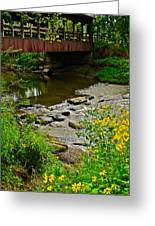 Covered Bridge Greeting Card by Frozen in Time Fine Art Photography