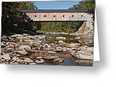 Covered Bridge Vermont Greeting Card by Edward Fielding