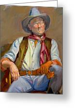 Cow-boy At Rest Greeting Card by Dominique Amendola