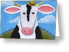 Cow Nursery Wall Art Greeting Card by Christy Beckwith