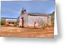 Cowboy Church Greeting Card by Tap  On Photo