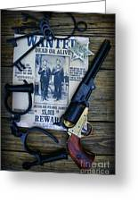 Cowboy - Law And Order Greeting Card by Paul Ward