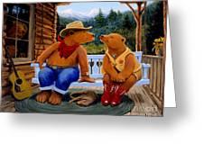 Cowboy Romance Greeting Card by Charles Fennen