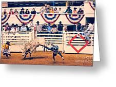 Cowboy Up Greeting Card by Charles Dobbs