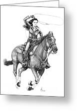 Cowgirl  Greeting Card by Murphy Elliott