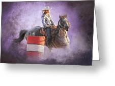 Cowgirls Dream Greeting Card by Ron  McGinnis