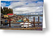 Cowichan Bay Vancouver Island Greeting Card by Lynn Bolt