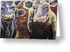 Cows Greeting Card by Dale Beckman