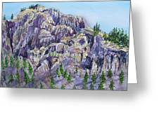 Coyote Mountain Greeting Card by Lynne Haines