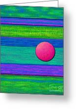 Cp022 With Circle Greeting Card by David K Small