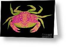 Crab Greeting Card by D Roberts