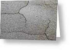Cracked tarmac Greeting Card by Tom Gowanlock