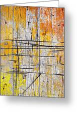Cracked Wood Background Greeting Card by Carlos Caetano