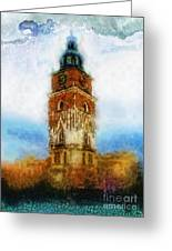 Cracov City Hall Greeting Card by Mo T