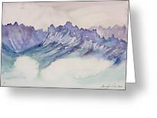 Craggy Peaks Greeting Card by Carolyn Doe