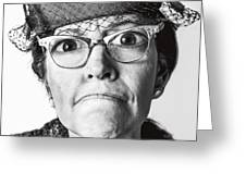 Cranky Old Lady Greeting Card by Diane Diederich