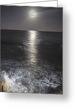 Crashing With The Moon Greeting Card by Bryan Toro