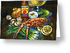 Crawfish Fixin's Greeting Card by Dianne Parks