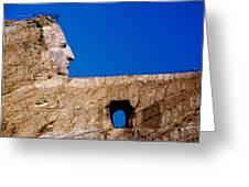 Crazy Horse Greeting Card by Karen Wiles