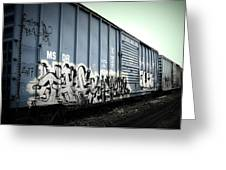 Crazy Train Greeting Card by Amanda St Germain