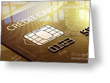 Credit Card Macro - 3d Graphic Greeting Card by Johan Swanepoel