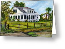 Creedmoor Plantation Greeting Card by Elaine Hodges