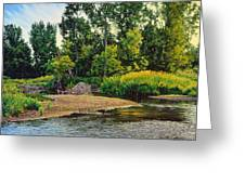 Creek's Bend Greeting Card by Bruce Morrison