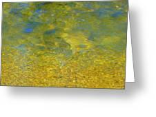 Creekwater Abstract Greeting Card by Deborah  Crew-Johnson