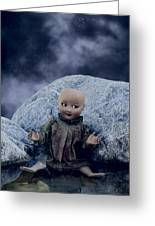 Creepy Doll Greeting Card by Joana Kruse