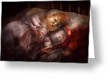 Creepy - Doll - Night Terrors Greeting Card by Mike Savad