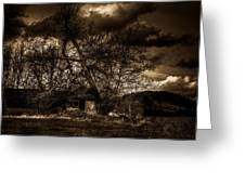 Creepy House One Greeting Card by Derek Haller