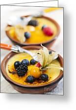 Creme Brulee Dessert Greeting Card by Elena Elisseeva