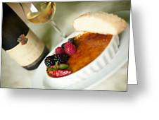 Creme Brulee  Greeting Card by Shanna Gillette