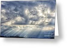 Crepuscular Rays Greeting Card by Thomas R Fletcher