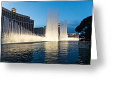 Crescendo - The Glorious Fountains At Bellagio Las Vegas Greeting Card by Georgia Mizuleva