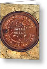 Crescent City Water Meter Greeting Card by Elaine Hodges