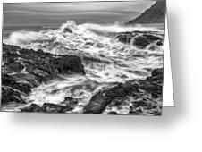Cresting Wave Greeting Card by Jon Glaser