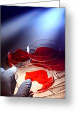 Crime Lab Greeting Card by Olivier Le Queinec