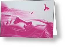 'crimson Light' Greeting Card by Christian Chapman Art
