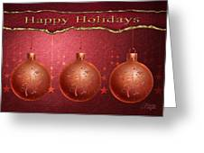 Crimson Ornaments Greeting Card by Arline Wagner