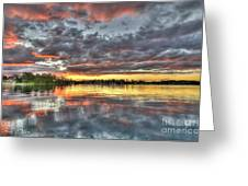 Crimson Sunset Over Cockle Bay Greeting Card by Geoff Childs