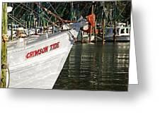 Crimson Tide Bow Greeting Card by Michael Thomas
