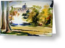Crisp Water Fountain At The Baptist Home II Greeting Card by Kip DeVore