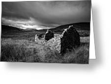 Crofters Cottage Ruin Greeting Card by Dave Bowman
