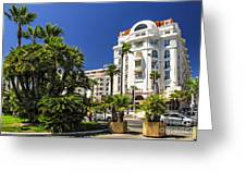 Croisette Promenade In Cannes Greeting Card by Elena Elisseeva