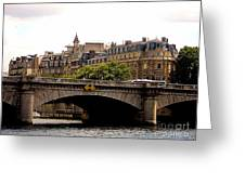 Crossing The Seine Greeting Card by Lauren Hunter
