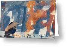 Crow Snow Greeting Card by Carol Leigh