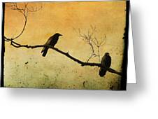 Crowded Branch Greeting Card by Gothicolors Donna Snyder