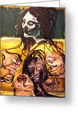 Crowded Headroom  Greeting Card by Michelle Dommer