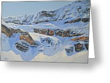 Crowfoot Glacier Greeting Card by Glen Frear